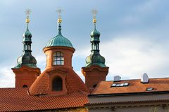 Church of Saint Lawrence in Prague, Czech Republic. Church of Saint Lawrence from Dientzenhofer, Prague, Czech Republic Royalty Free Stock Image