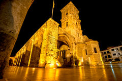 Church of Saint Lazarus at night. Larnaca, Cyprus Royalty Free Stock Photos