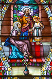 Church of Saint-Leon-de-Westmount stained glass window Royalty Free Stock Photography