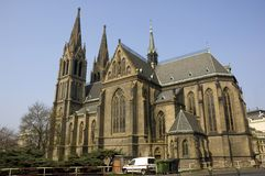 Church of saint ludmila Royalty Free Stock Images
