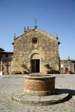 Church of Saint Maria in Monteriggioni (Tuscany, Italy) Stock Photo