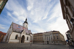 Church of Saint Mark, one of the most important landmarks of Zag Royalty Free Stock Images