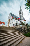 Church of Saint Martin at Bled lake in Slovenia Royalty Free Stock Photo