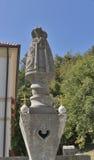 Church of Saint Martin statue at Bled lake, Slovenia Royalty Free Stock Photo