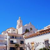 Church of Saint Mary in Cadaques Royalty Free Stock Photos