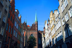 Church Saint Mary of Gdansk in Poland. Old town of Gdansk with st Mary's church, Gdansk, Poland. Stock Photos
