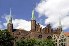 Church Saint Mary of Gdansk in Poland Stock Photo