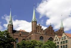 Church Saint Mary of Gdansk in Poland Stock Photo