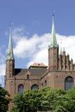 Church Saint Mary of Gdansk in Poland Stock Photos
