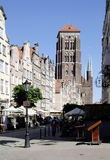 Church Saint Mary of Gdansk in Poland Stock Photography