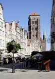 Church Saint Mary of Gdansk in Poland Stock Photography