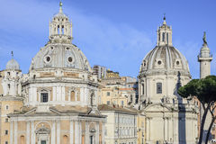 Church saint mary of loreto rome Italy europe Royalty Free Stock Photo