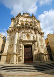 Church of Saint Matthew in Lecce, Puglia, Italy Royalty Free Stock Photography