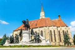 Church of Saint Michael. Cluj-Napoca, Romania. Royalty Free Stock Image