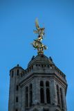 Church of Saint Michael in Saint-Michel-Mont-Mercure, France wit Royalty Free Stock Photography