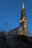 Church of Saint Michael in Saint-Michel-Mont-Mercure, France wit Royalty Free Stock Image
