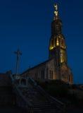 Church of Saint Michael in Saint-Michel-Mont-Mercure, France wit Stock Photos