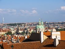 Church of St Nicholas in Lesser Town or old town of Prague in the Czech Republic. The Church of Saint Nicholas is a Baroque church in the Lesser Town of Prague royalty free stock images