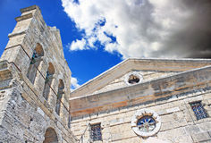 The Church of Saint Nicholas of Mole on Solomos Square in Zakynthos island, Greece Royalty Free Stock Photos