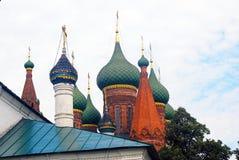 Church of Saint Nicolas cupolas. Stock Images