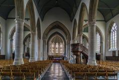 Church of Saint Nicolas, Veurne, Belgium. Interior of church of Saint Nicolas in Veurne, Belgium Stock Photo