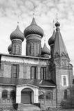 Church of Saint Nicolas in Yaroslavl, Russia. Black and white photo. Royalty Free Stock Photo