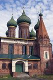 Church of Saint Nicolas in Yaroslavl, Russia. Blue sky with clouds. Royalty Free Stock Photos