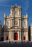 Church of Saint-Paul-Saint-Louis facade, Paris, France Stock Photo