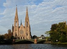 Church of Saint Paul in Strasbourg Royalty Free Stock Images