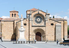 Church of Saint Peter in Avila. It was built around 1100, is located outside the city walls, in the Great Market Square, in front of the gate of the Alcazar. It Royalty Free Stock Photo
