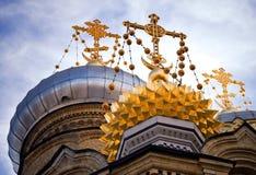 Church in Saint-Petersburg. Golden dome of Church in Saint-Petersburg Stock Image