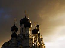 Church in Saint-Petersburg, Russia. Church of  the Shestakovskaya godmother icon. Georgian church. Saint-Petersburg, Russia Royalty Free Stock Image