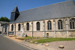 The church of Saint Piat in Eure et Loir Stock Image