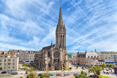 Church of Saint-Pierre in Caen, Normandy Stock Image