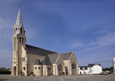 Church of Saint Pierre de Quiberon royalty free stock photos