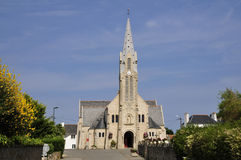Church of Saint Pierre de Quiberon in France Stock Photos
