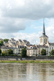 Church of Saint Pierre in Saumur, Maine-et-Loire department (Fra Royalty Free Stock Photo