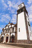 Church of Saint Sebastian Igreja Matriz de Sao Sebastiao in Ponta Delgada, Sao Miguel, Azores, Portugal. Royalty Free Stock Photo