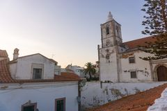 Church of Saint Sebastian in Lagos, Portugal royalty free stock photos