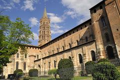 The Church of Saint Sernin. The church of St. sernin in the city of Toulouse Royalty Free Stock Photography