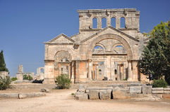 The Church of Saint Simeon Stylites. Well preserved church that dates back to the 5th century, located about 30 km northwest of Aleppo, Syria Royalty Free Stock Photography
