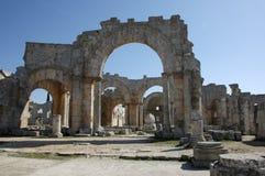 Church of Saint Simeon Stylites. Syria Stock Image