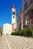 Church of Saint Spyridon of Trimythous (1590), Kerkyra, Corfu is Royalty Free Stock Images