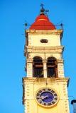 Church of Saint Spyridon of Trimythous (1590), Kerkyra, Corfu is Royalty Free Stock Image
