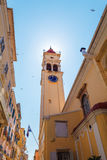 Church of Saint Spyridon of Trimythous (1590), Kerkyra, Corfu is Royalty Free Stock Image