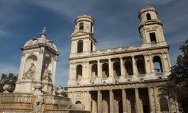 The church of Saint Sulpice, Paris, France. Stock Photography