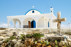 The Church of Saint Thecla on the Mediterranean sea in Ayia NAPA Royalty Free Stock Photography