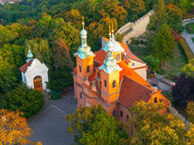 Church of Saint Vavrinec in Prague Royalty Free Stock Image