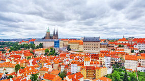 Church Saint Vitus. Ventseslaus and Adalbert and area Lesser Town of Prague. Czech Republic Royalty Free Stock Image
