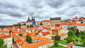 Church Saint Vitus. Ventseslaus and Adalbert and area Lesser Town of Prague. Czech Republic Royalty Free Stock Images